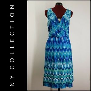 NY Collection Woman Sleeveless Blue Dress Size 1X
